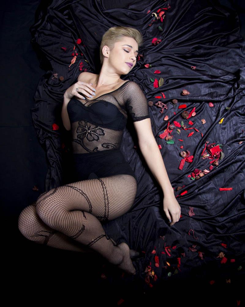Lencería erótica. Plano cenital